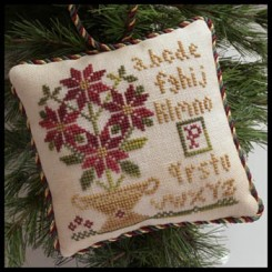 The Sampler Tree Ornament Series - POTTED POINSETTIA