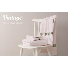 Handtuch rosa, Raute - 50 x 100 cm