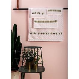 Gästehandtuch rosa, Streifen - 30 x 50 cm