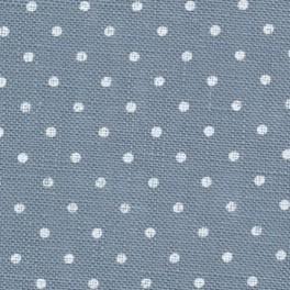 Zweigart Belfast Petit Point blau, weiß gepunktet, 140 cm