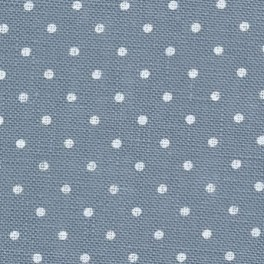 Zweigart Belfast Petit Point blau, weiß gepunktet, 50 x 70 cm