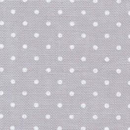 Zweigart Belfast Petit Point grau, weiß gepunktet, 140 cm