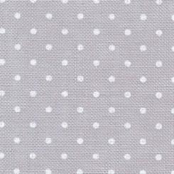 Zweigart Belfast Petit Point grau, weiß gepunktet, Zuschnitte